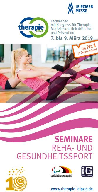 Termine IG-Rehasport - Flyer Therapie Leipzig 2019 Cover